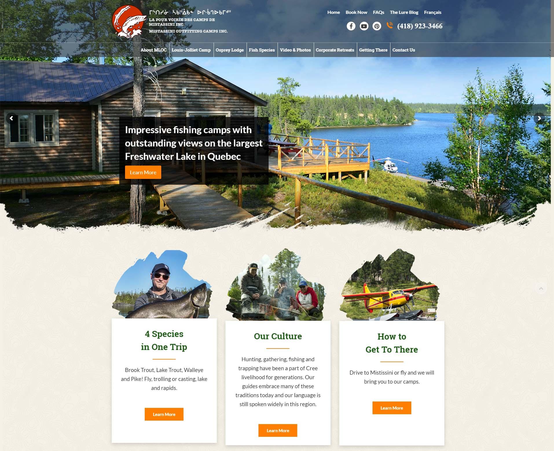 Excellente Saison 2017 Dans Les Livres Pour Les Pourvoiries Du Lac Mistassini Inc., La Saison 2018 Est Lancée Avec Un Nouveau Site Web.